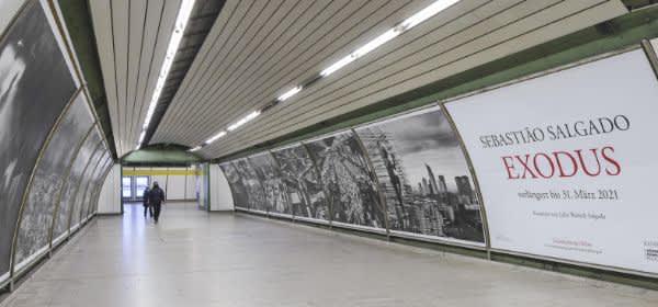 Der Kunsttunnel unter dem Odeonsplatz in München.
