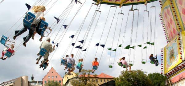 Kettenkarussell auf dem Dachauer Volksfest