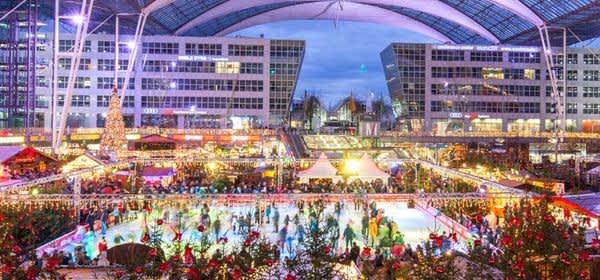 Wintermarkt, Weihnachtsmarkt, Flughafen München
