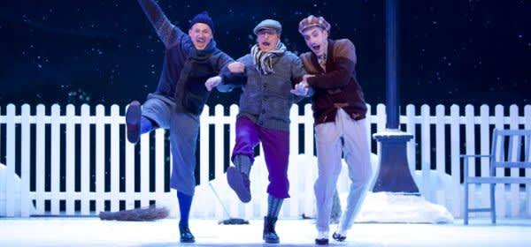 """Szene aus """"Drei Männer im Schnee"""""""