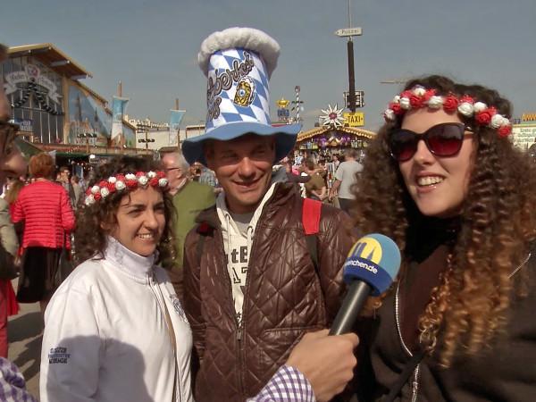 Interview beim Italienerwochenende auf der Wiesn.