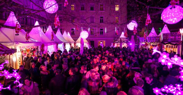 Pinker Weihnachtsmarkt.Pink Christmas Im Offiziellen Stadtportal Von Munchen