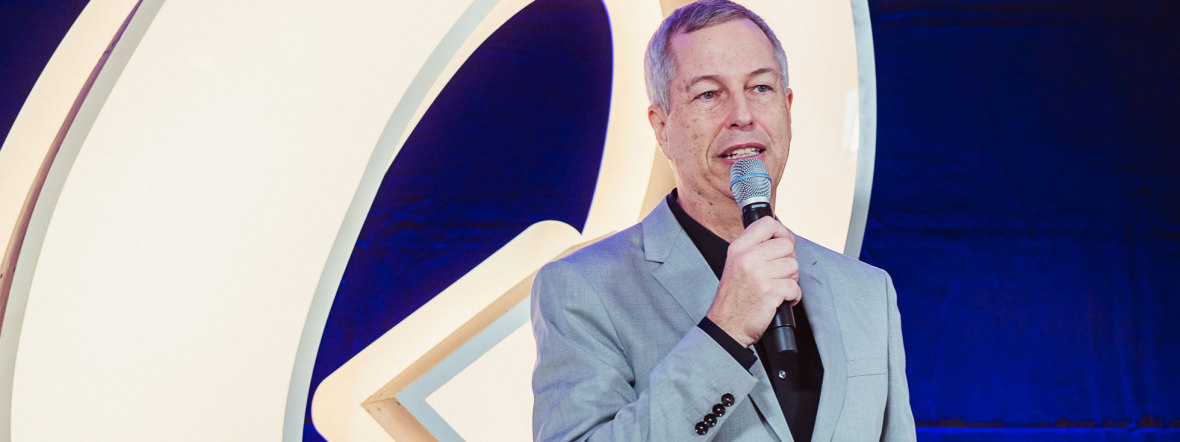 Thomas Hermanns bei der Vorstellung des Quatsch Comedy Club in München