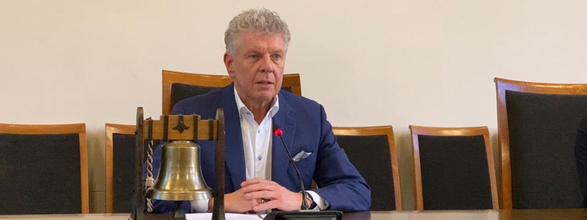 Münchens Oberbürgermeister Dieter Reiter bei der Pressekonferenz
