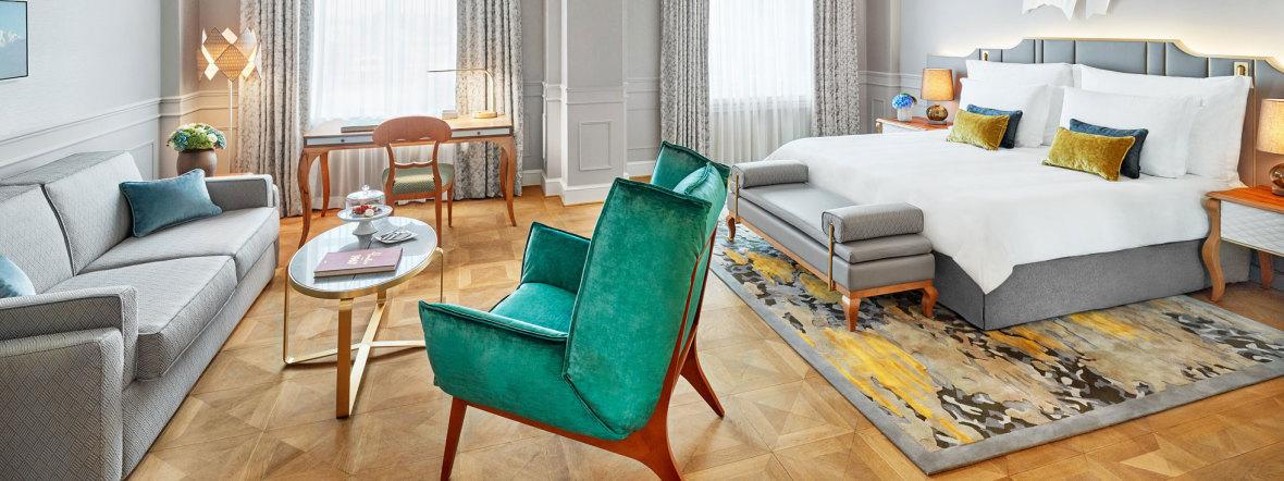 Eine Suite im Hotel Mandarin Oriental in München