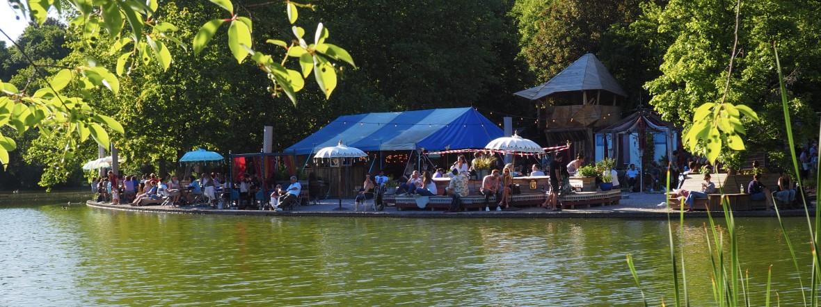 Das Gans am Wasser im Westpark