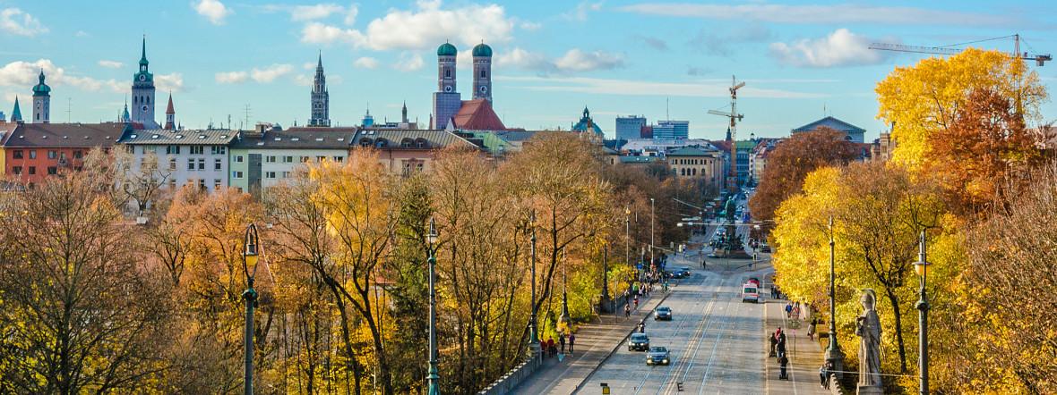 München-Panorama im Herbst