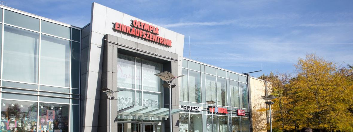Olympia-Einkaufszentrum von außen