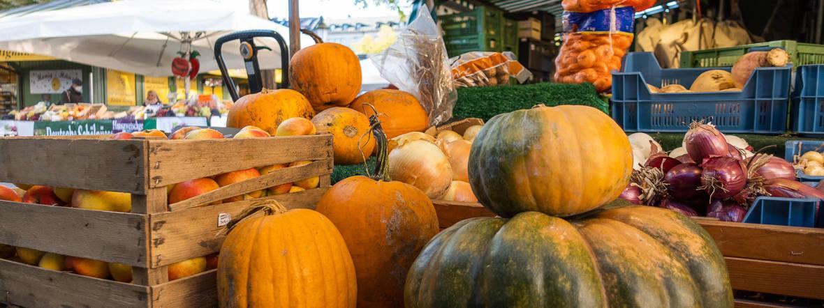 Herbst auf dem Viktualienmarkt