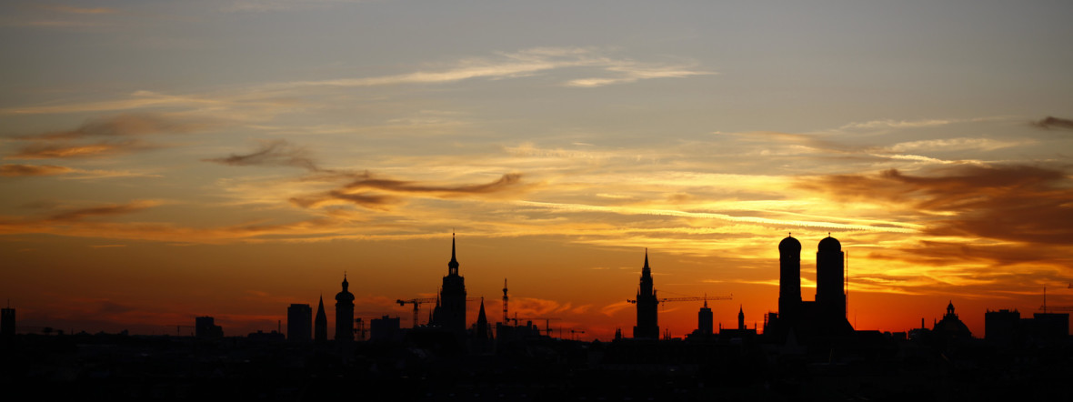 München bei Sonnenuntergang