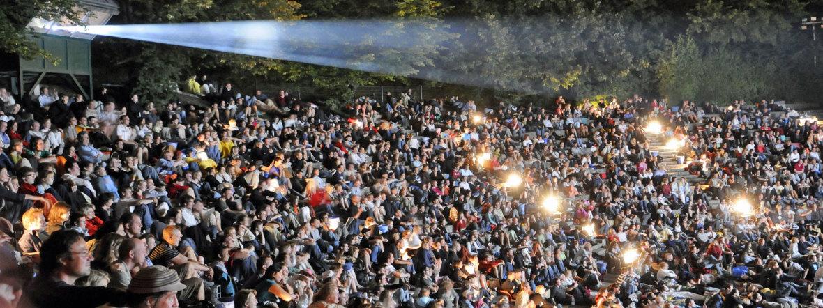 Publikum bei Kino, Mond & Sterne