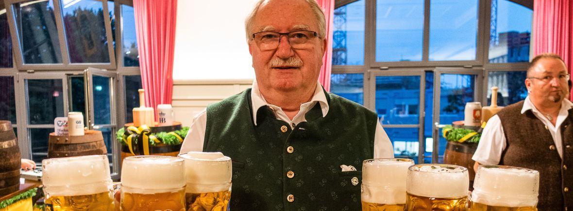 Manfred Newrzella bei der Wiesnbierprobe 2021