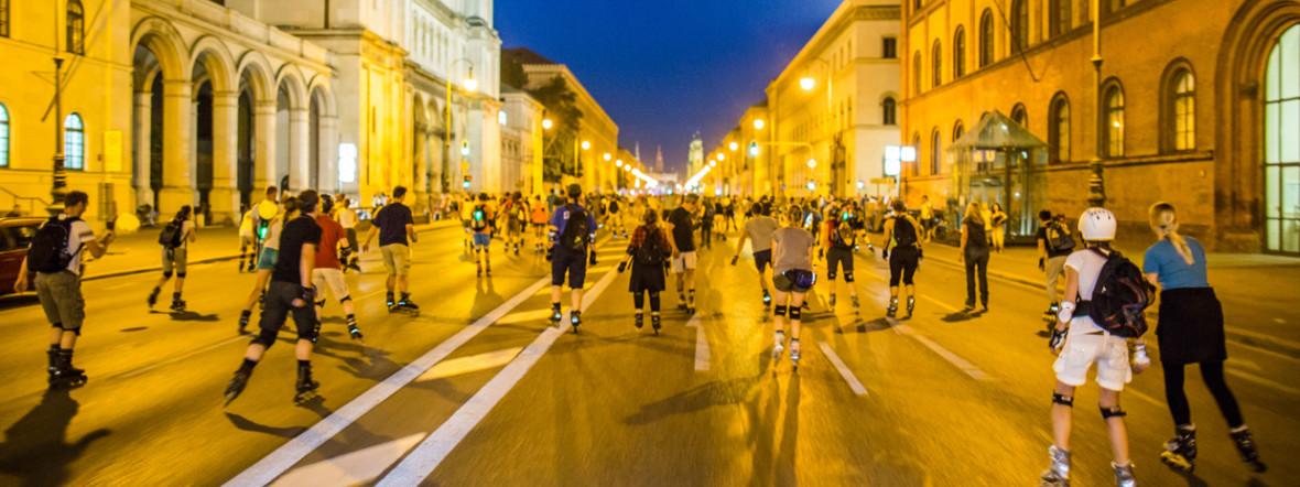 Inline Skater bei der Blade Night