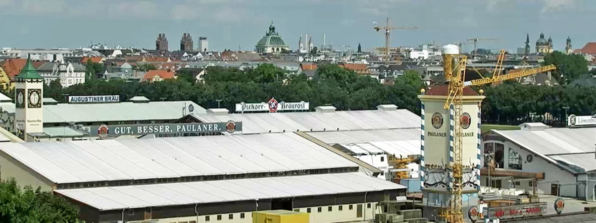 Standbild Wiesn-Webcam: Oktoberfestaufbau