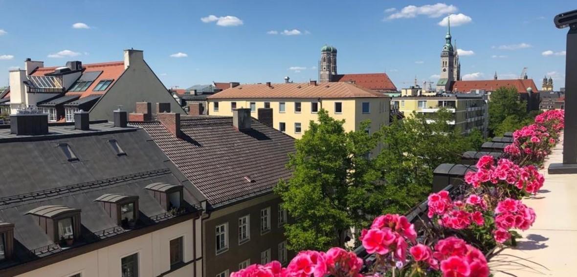 Dachterrasse Deutsche Eiche, Foto: muenchen.de/Julie Teicke