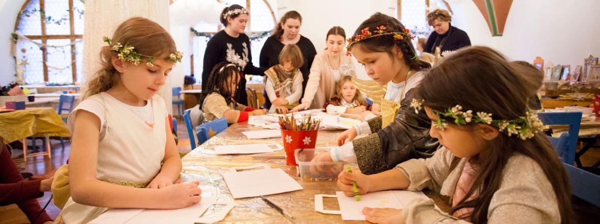 Die Himmelswerkstatt am Münchner Christkindlmarkt, Foto: Mónica Garduño