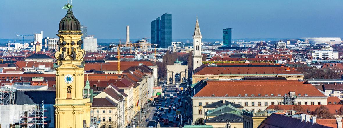 Blick vom Rathausturm nach Norden, Foto: muenchen.de/Michael Hofmann