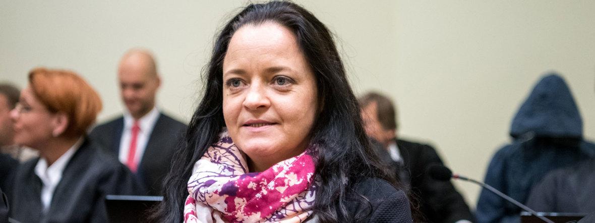 Beate Zschäpe bei der Urteilsverkündung, Foto: dpa