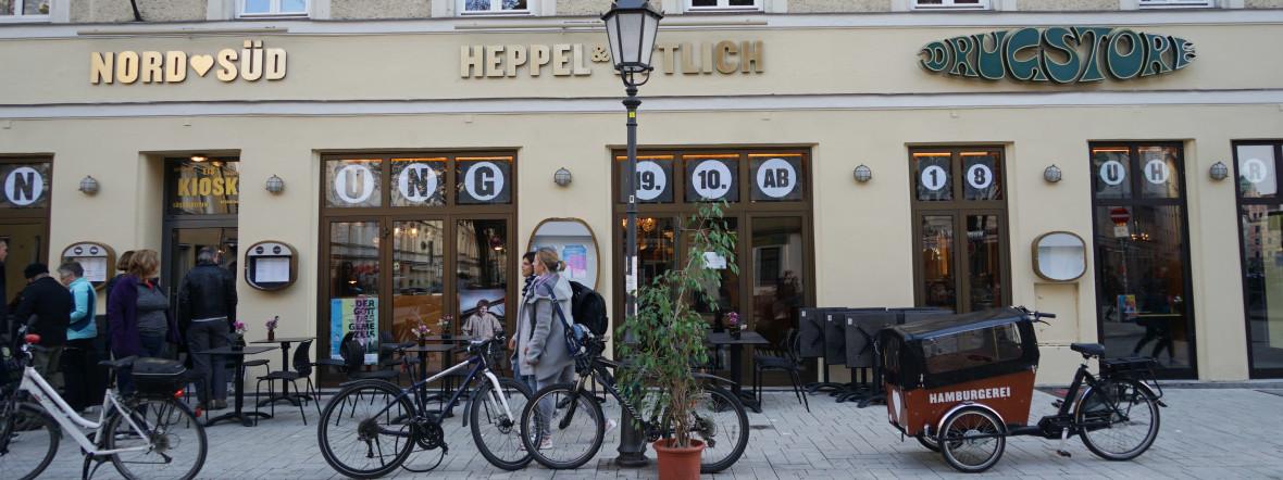 Die neue Außensicht: Das alte Drugstore-Schild ist geblieben., Foto: muenchen.de/ Daniel Vauel