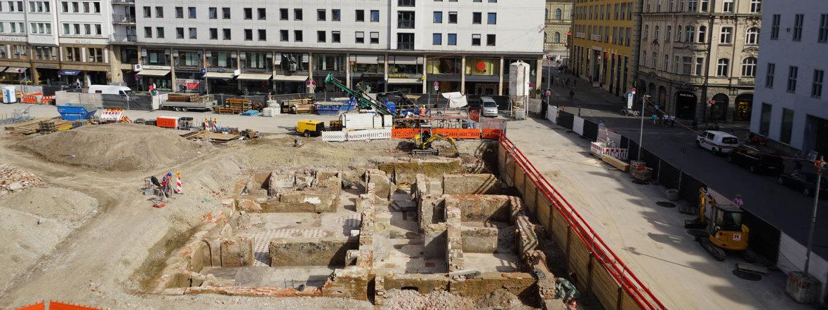 Archäologische Grabungen am Marienhof, Foto: muenchen.de/ Daniel Vauel