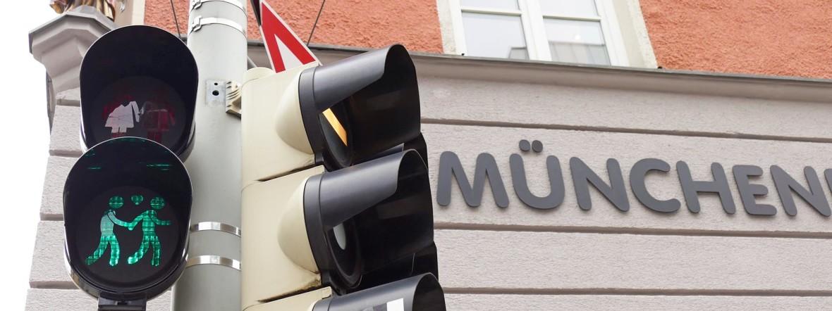 München, Toleranz, Ampel, Grün, Fraunhofer, Müllerstraße, Foto: muenchen.de