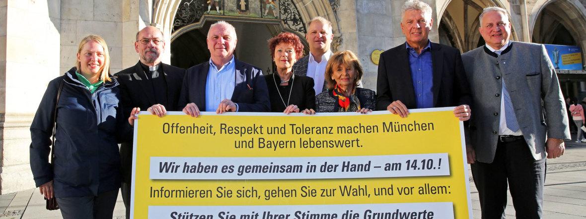 Prominente aus der Münchner Stadtgesellschaft präsentieren Wahlaufruf, Foto: Michael Nagy/Presseamt München
