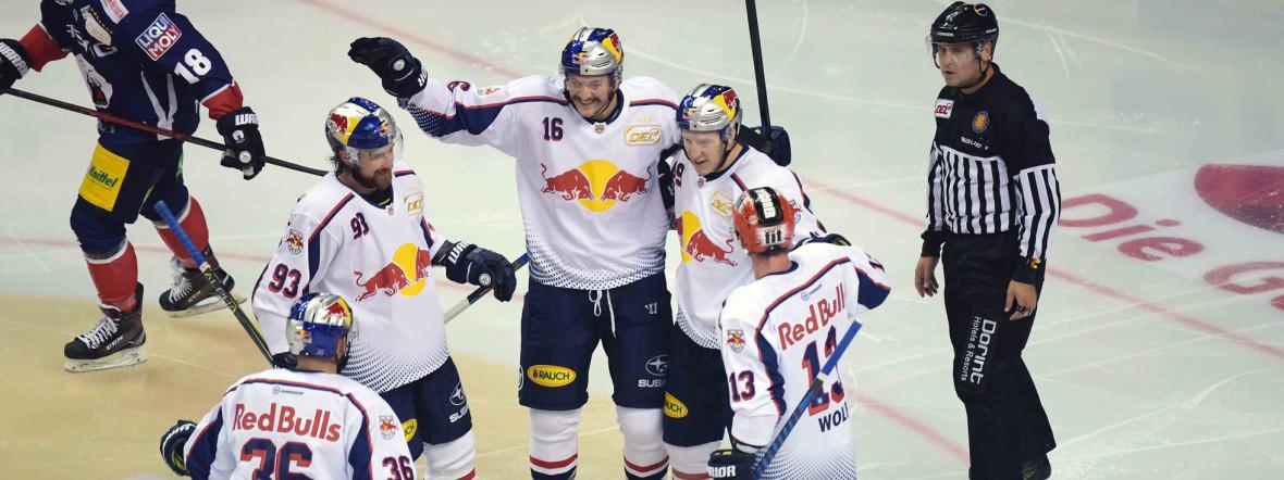 Red Bulls gewinnen DEL-Auftakt mit 4:2 in Berlin , Foto: EHC Red Bull München