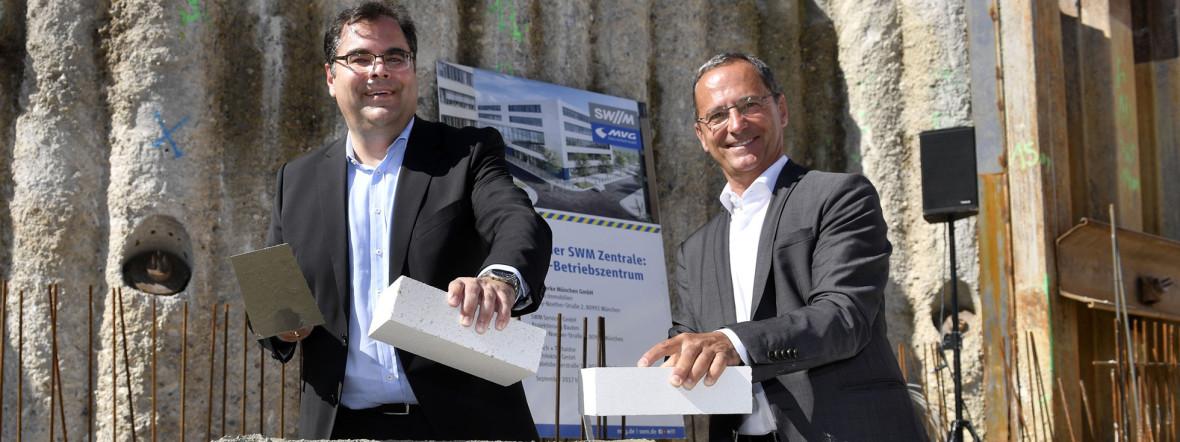 Grundsteinlegung für neues MVG-Betriebszentrum, Foto: SWM