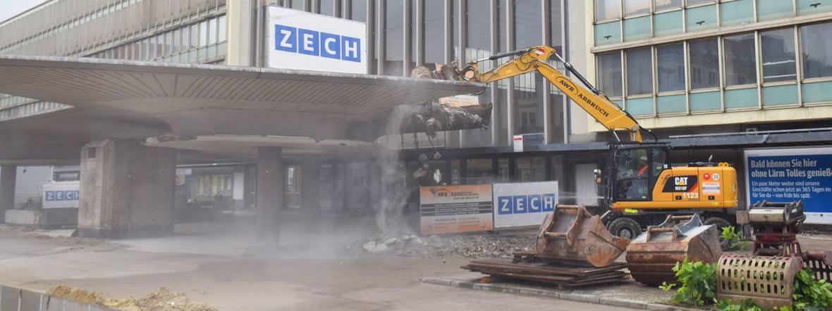 Abriss des Schwammerl-Vordaches am Hauptbahnhof, Foto: muenchen.de/Mark Read
