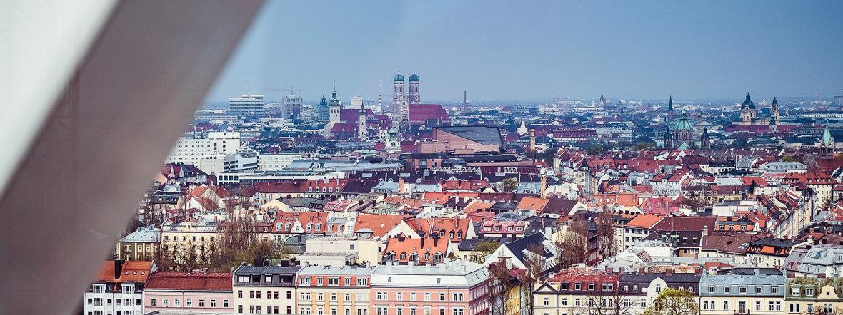 Der Blick über München aus dem Riesenrad., Foto: Anette Göttlicher