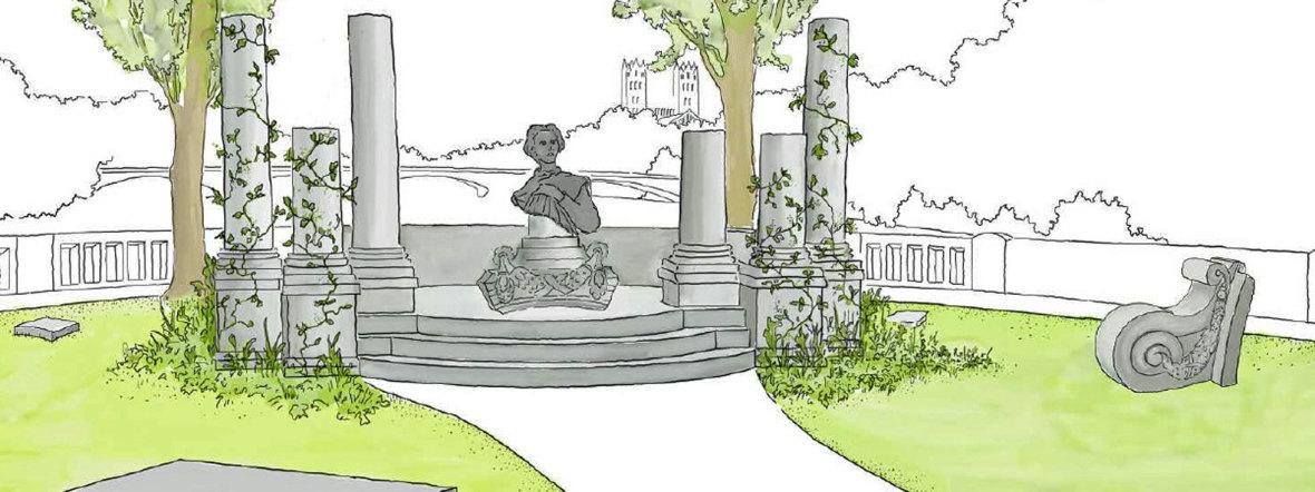 Visualisierung König-Ludwig-Denkmal, Foto: Christine Stüber, LandschaftsArchitektin für Baureferat München