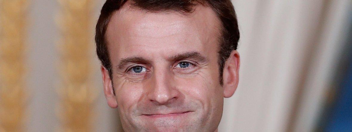 Frankreichs Präsident Emmanuel Macron , Foto: Benoit Tessier/Reuters Pool/AP/Archiv