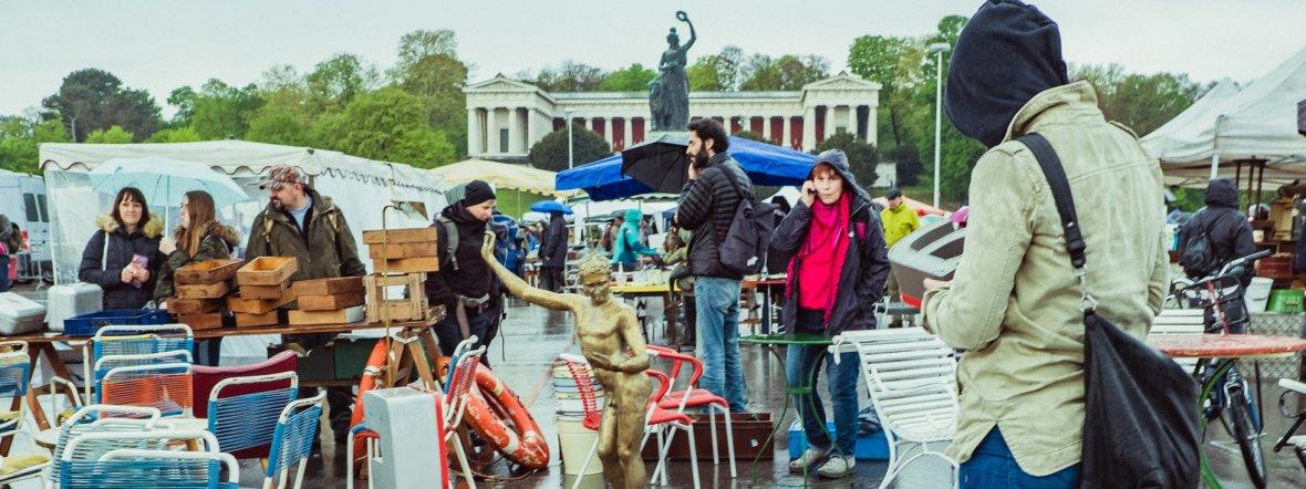 Eindruck vom Riesenflohmarkt auf der Theresienwiese, Foto: muenchen.de / Anette Göttlicher