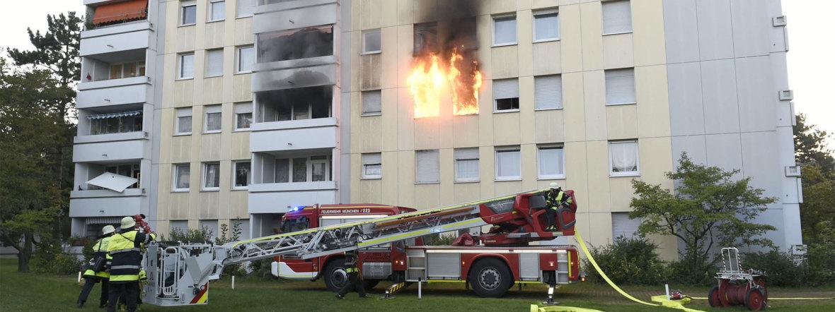 Brand im Harthof, Foto: Berufsfeuerwehr München