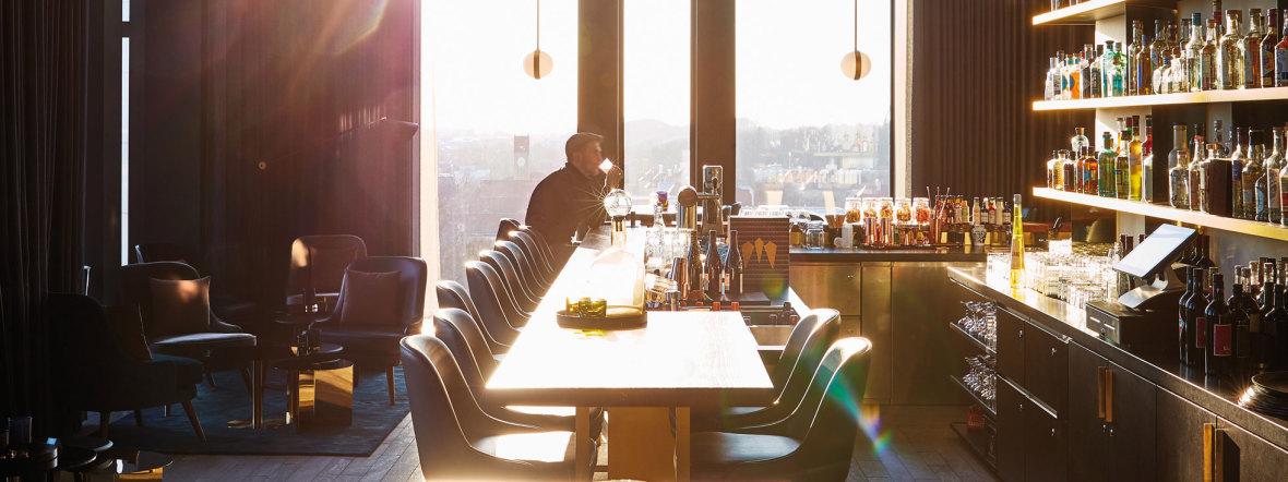 Das Restaurant in der M'Uniqo Bar, Foto: Mark Seele