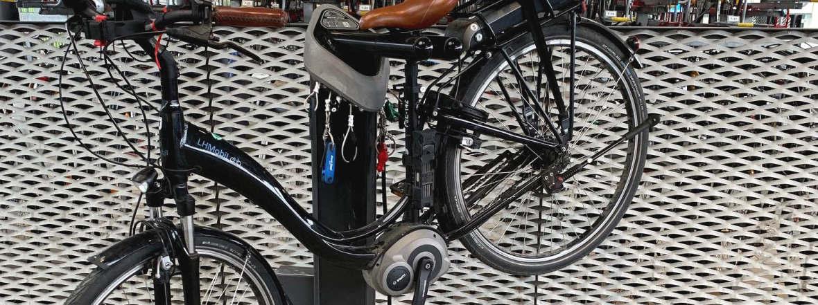 Fahrrad-Servicestation in Moosach, Foto: Landeshauptstadt München KVR