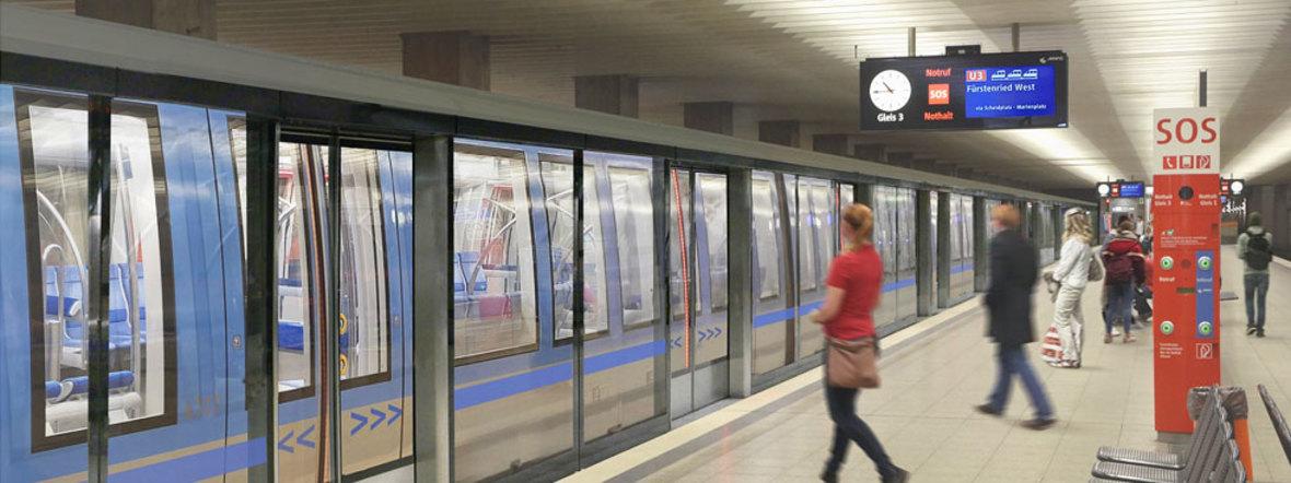 Visualisierung: Bahnsteigtüren am U-Bahnhof Olympiazentrum, Foto: SWM/MVG
