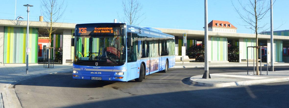 Die neue Expressbus-Linie X36, Foto: SWM/MVG