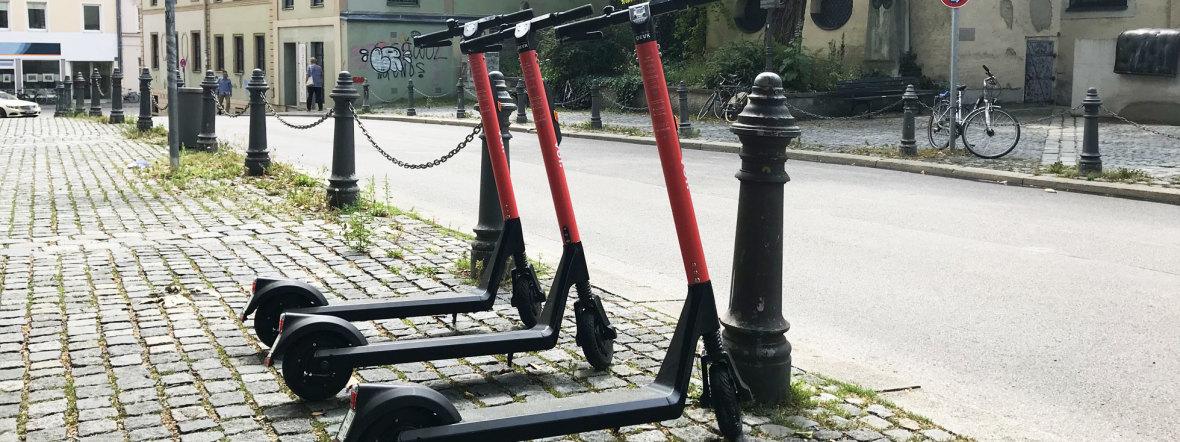 E-Scooter von voi in München, Foto: muenchen.de