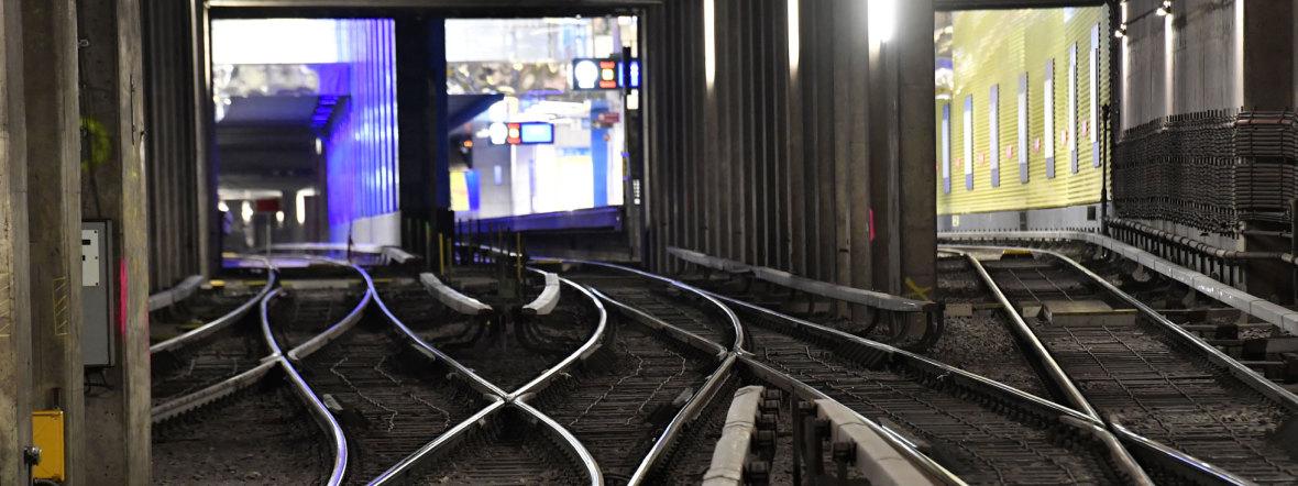 Weichenfeld am U-Bahnhof Münchner Freiheit, Foto: MVG