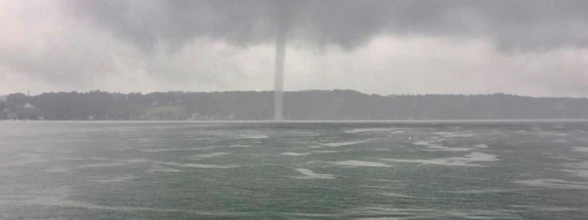 Tornado über dem Starnberger See, Foto: DLRG Pöcking-Starnberg e.V.