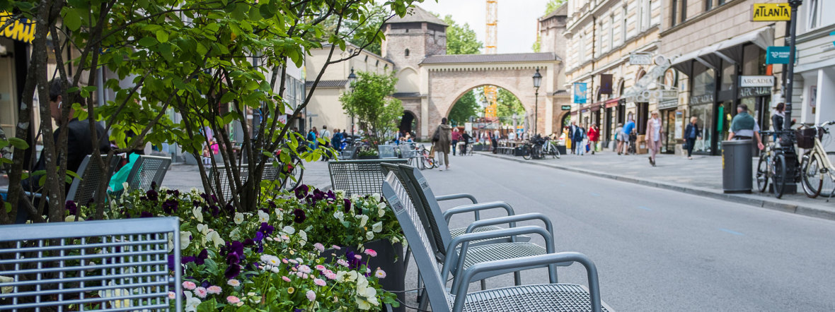 Fußgängerzone in der Sendlinger Straße im Jahr 2018, Foto: Anette Göttlicher
