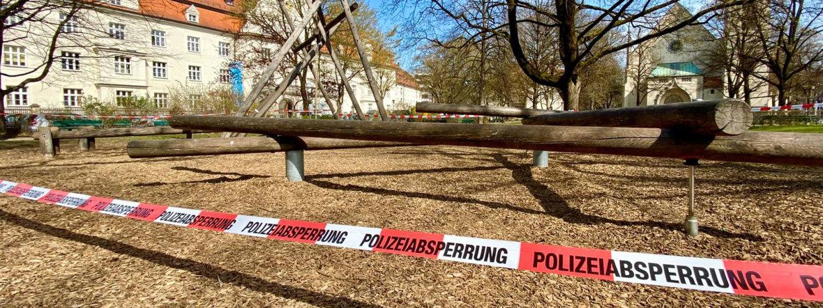 Corona: Polizeiabsperrung in München, Foto: muenchen.de/Anette Göttlicher