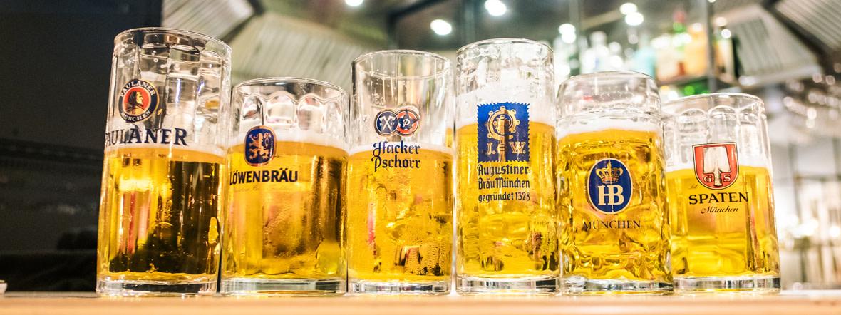 Die Biere der sechs Münchner Brauereien, Foto: Anette Göttlicher