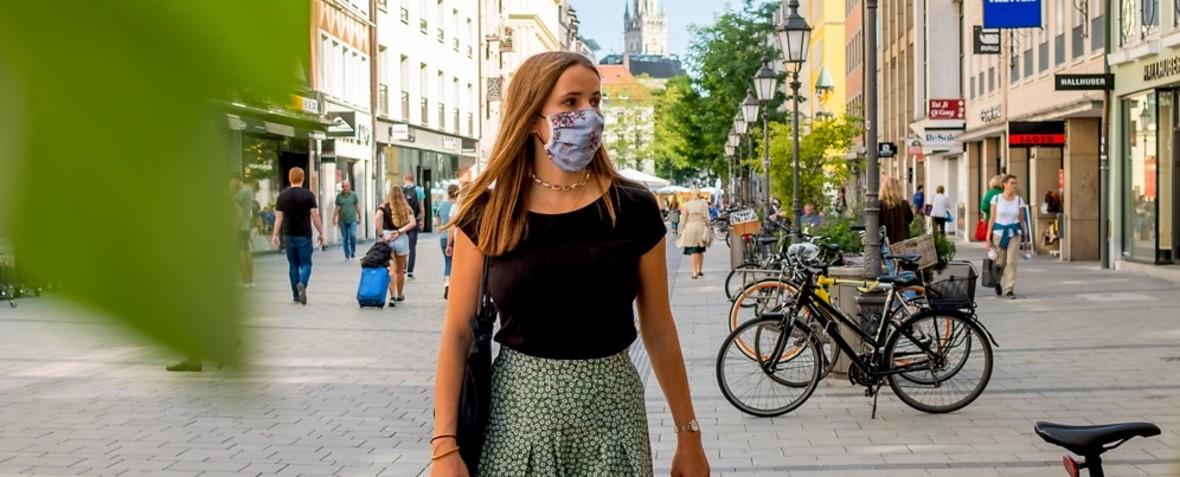 Corona Maskenpflicht in der Innenstadt., Foto: muenchen.de/ Anette Göttlicher
