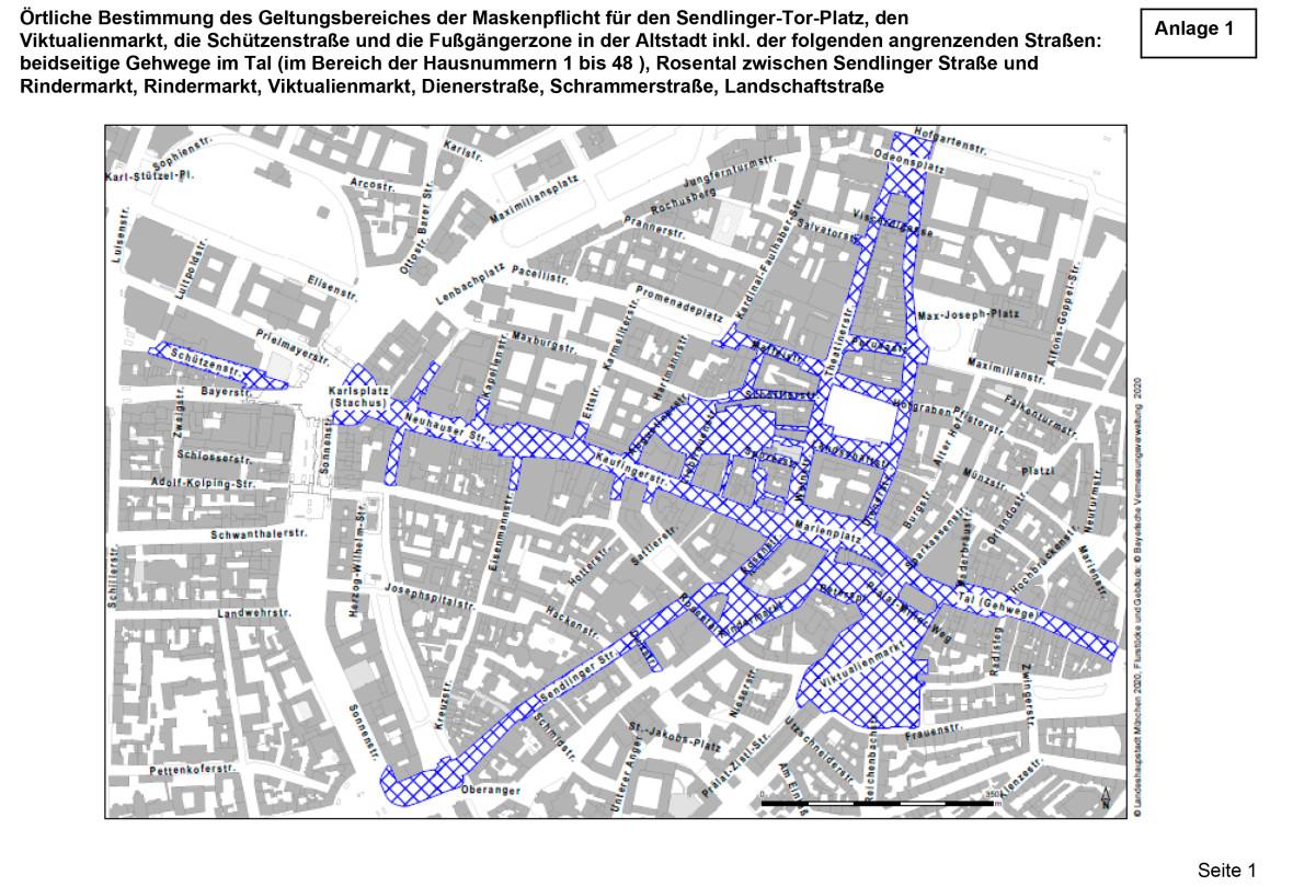 Fußgängerzone - Grafik