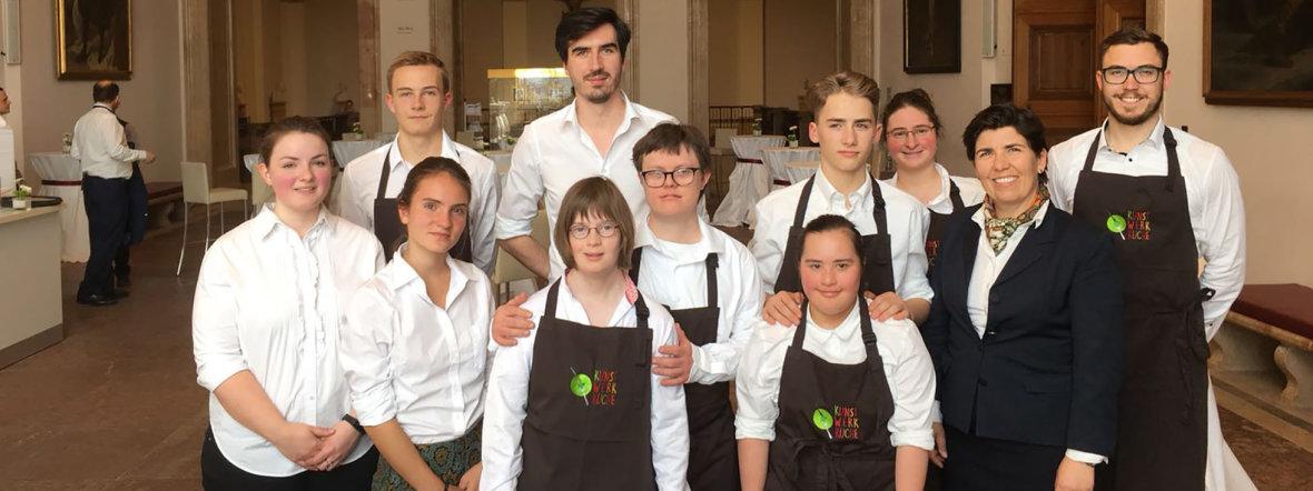 Das Team der kunst-Werk-küche im Werksviertel Mitte, Foto: kunst-Werk-küche