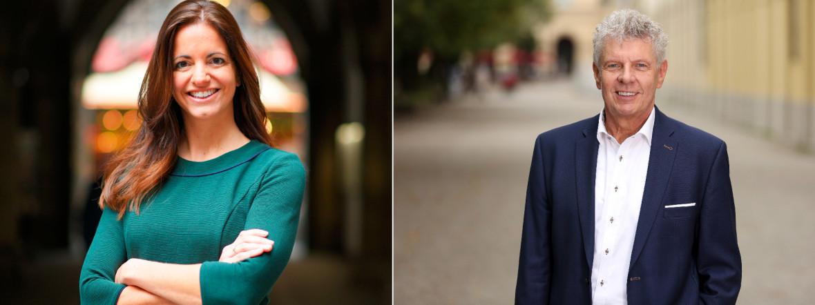 OB-Kandidaten in der Stichwahl: Kristina Frank (CSU) und Dieter Reiter (SPD) , Foto: Robert Haas - Michael Nagy/Presseamt