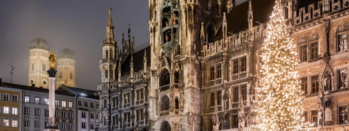 Der Christbaum am Münchner Marienplatz, Foto: Anette Göttlicher