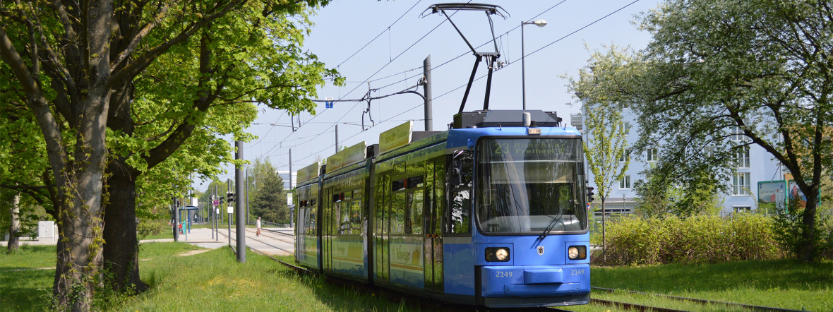 Tram im MVV-Gebiet, Foto: MVV GmbH